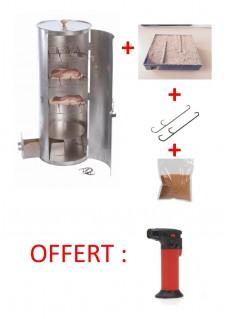 Pack fumoir rond avec porte inox 33 cm